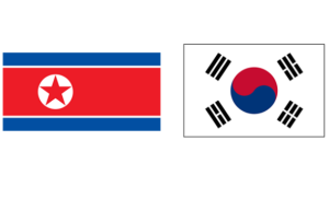 Flags of North and South Korea, so similar, er...NOT!