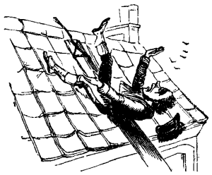 man falling