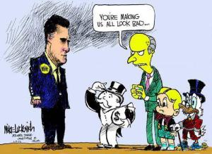 Mitt Romney and Charles Montgomery Burns