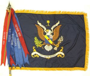 52d Infantry Regimental Colors with streamers