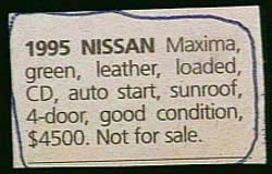 Classified ad021