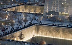 9/11 Memorial (AP photo by Mark Lennihan)