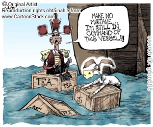 Boston tea party cartoon