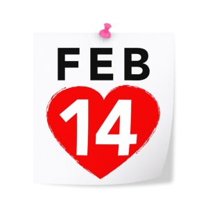 February 14th - St Valentine's Day
