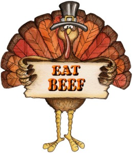 Thanksgiving Turkey eat beef campaign