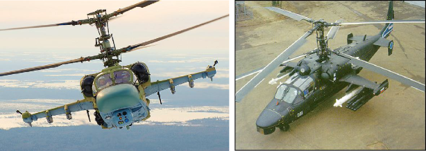 The multi-role all-weather combat Ka-52 'Alligator' helicopter