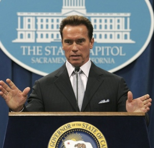 Arnold Schwarzenegger speaking as governor