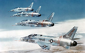 F-100C in formation