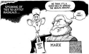 Obama-Marx cartoon