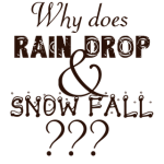 why does rain drop and snow fall