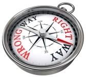 right way wrong way compass