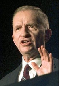 Ross Perot making a point