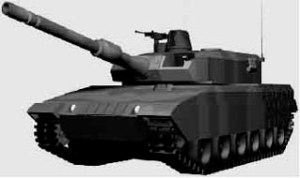 Japanese Army TKX 44 ton tank