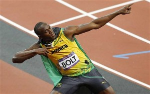 Usain Bolt 100 Meter Champion and the fastest man in the world