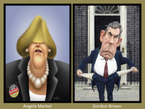 Angela Merkel and Gordon Brown