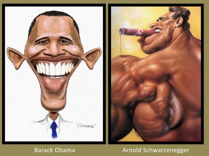 Barack Obama and Arnold Schwarzenegger