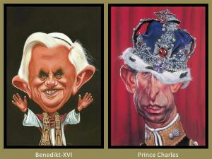 Benedikt XVI and Prince Charles