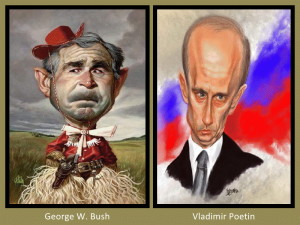 George W Bush and Vladimir Poetin