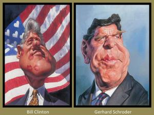 Bill Clinton and Gerhard Schroder