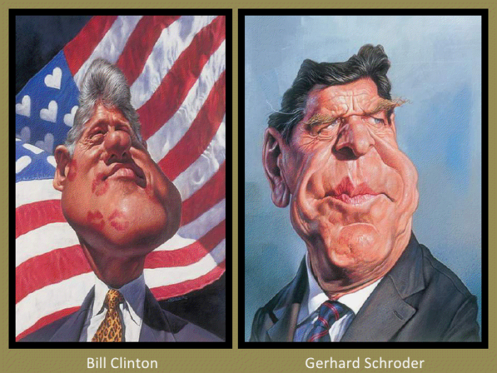 Bill Clinton and Gerhard Schroder