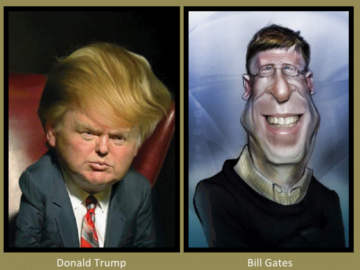 Donald Trump and Bill Gates