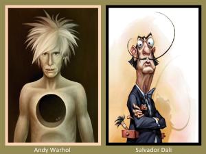 Andy Warhol and Salvador Dali
