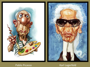Pablo Picasso and Karl Lagerfeld