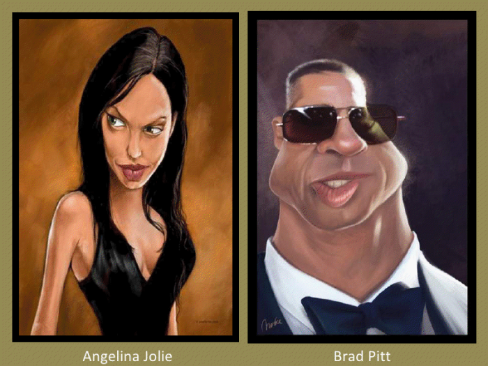 Angela Jolie and Brad Pitt