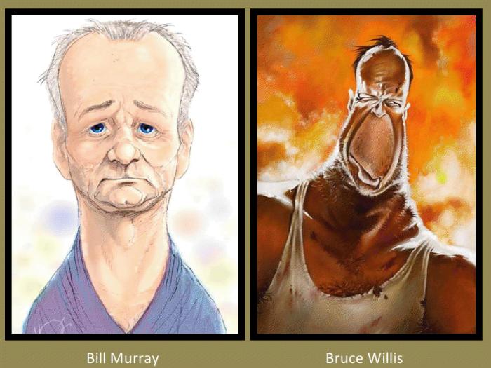 Bill Murray and Bruce Willis