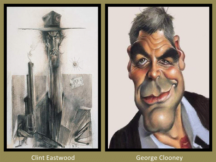 Clint Eastwood and George Clooney