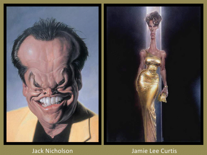 Jack Nicholson and Jamie Lee Curtis