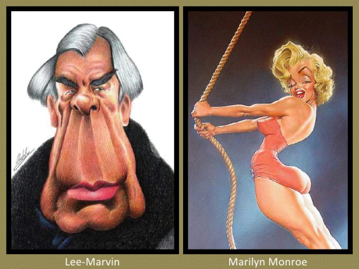 Lee Marvin and Marilyn Monroe