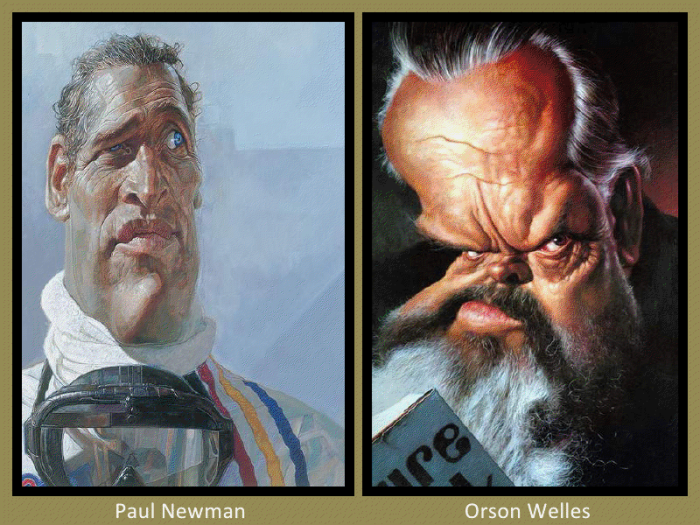 Paul Newman and Orson Wells