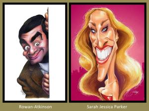 Rowan Atkinson and Sarah Jessica Parker
