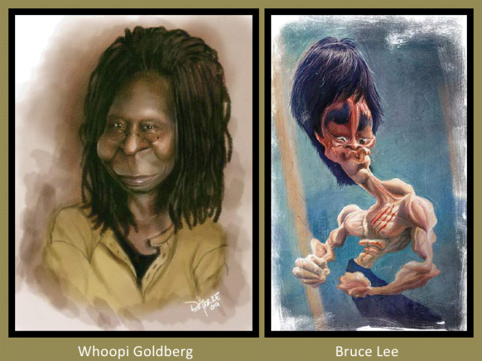 Whoopi Goldberg and Bruce Lee