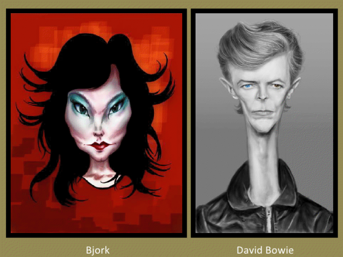 Bjork and David Bowie