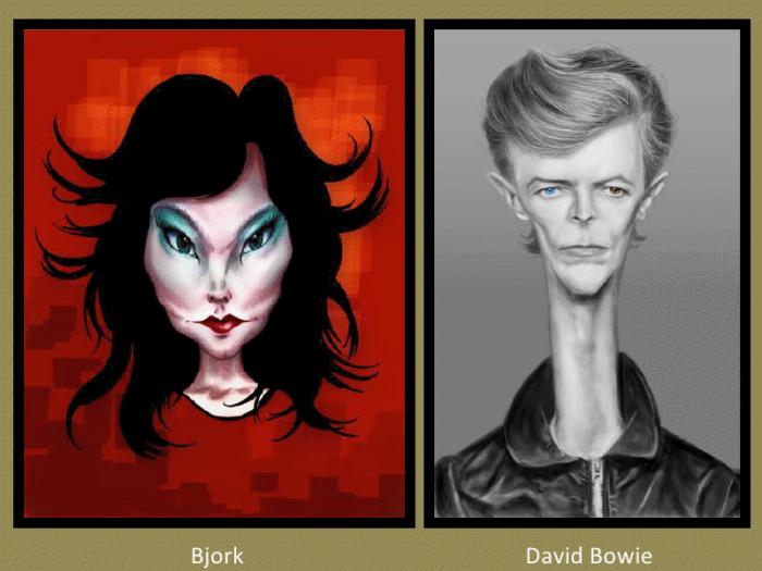 Bjork and David Bowie