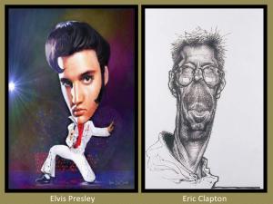 Elvis Presley and Eric Clapton
