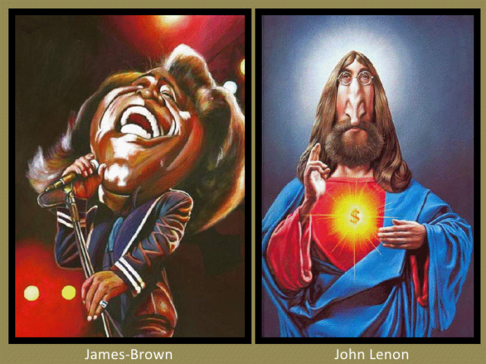 James Brown and John Lenon