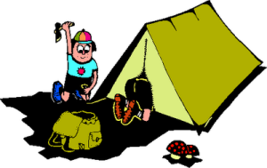 Camping-Cartoon