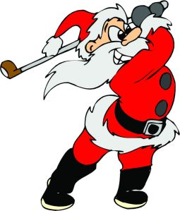 cartoon-santa-playing-golf