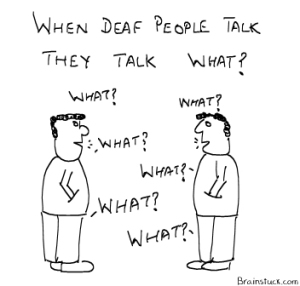 deaf people talk what