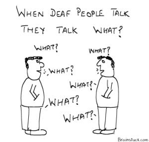deaf people talk what