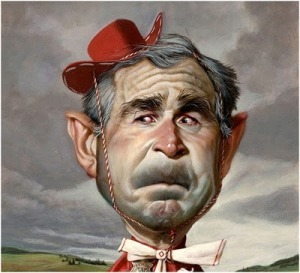 Caricature of President George W Bush