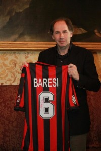 Franco Baresi holding his #6 shirt