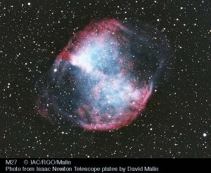 Messier 27, the Dumbbell Nebula