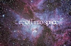 stare off into space