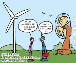 wind turbine fan cartoon