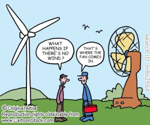 wind turbine fan cartoon