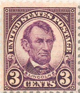 Abraham Lincoln 3-cent stamp
